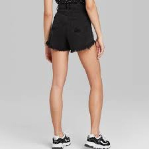 Wild Fable High Rise Black Distress Shorts Size 2